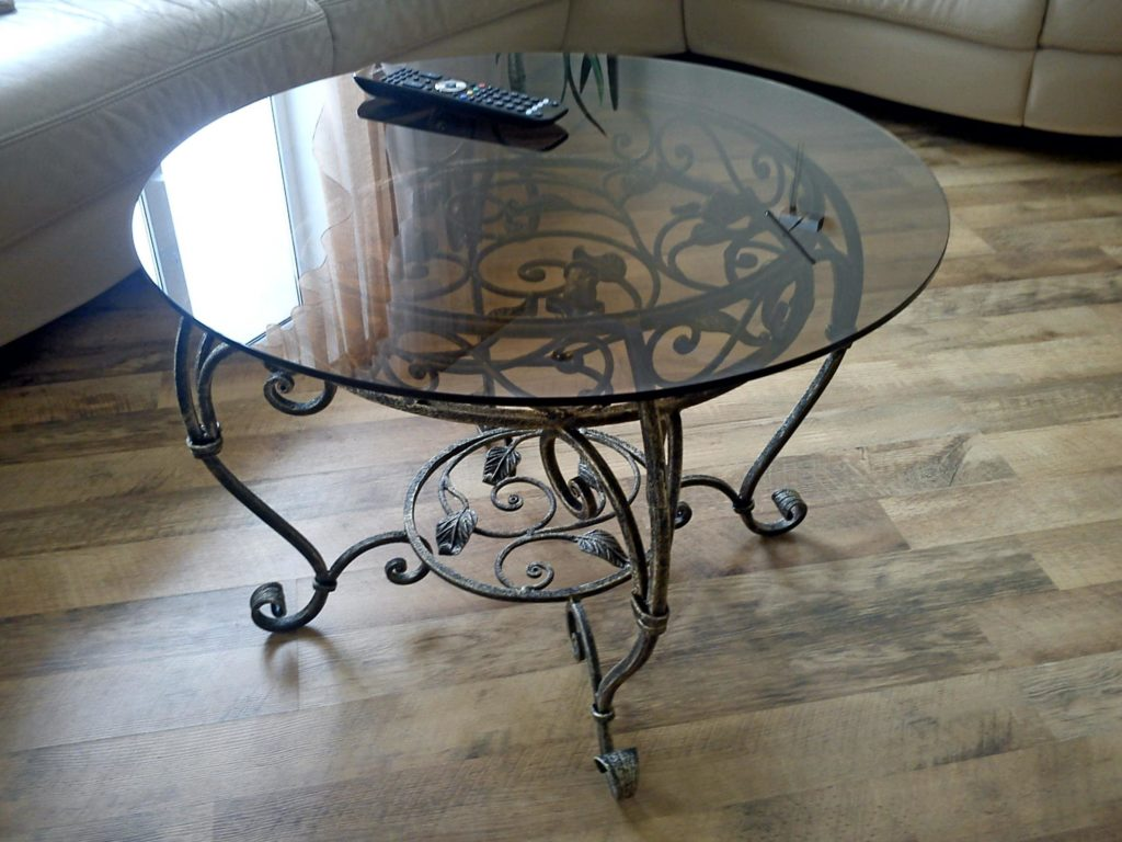 Круглый стол из металла своими руками 17