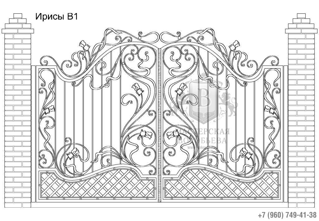 Ворота Ирисы В1, цена 124 930 руб., изготовление 30 дней