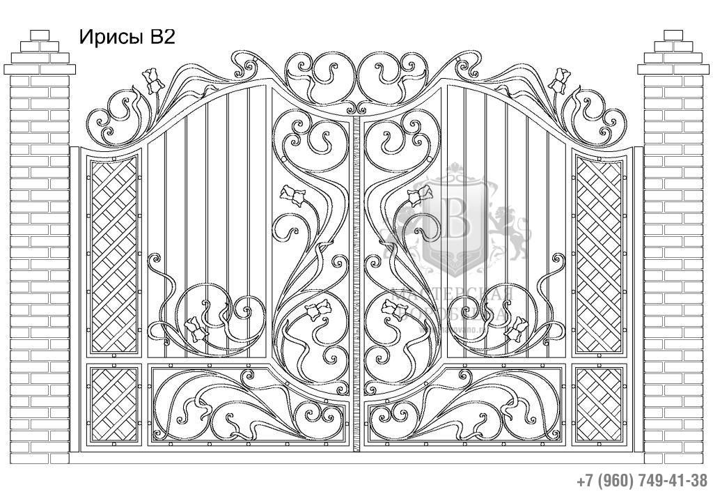 Ворота Ирисы В2, цена 129 870 руб., изготовление 30 дней
