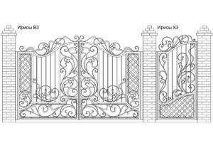 Ворота Ирисы В3 + Калитка Ирисы К3. Цена: 160 030 руб.