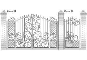 Ворота Ирисы В4 + Калитка Ирисы К4. Цена: 159 380 руб.