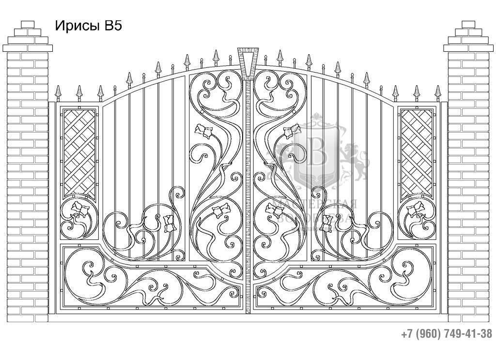 Ворота Ирисы В5, цена 122 590 руб., изготовление 30 дней