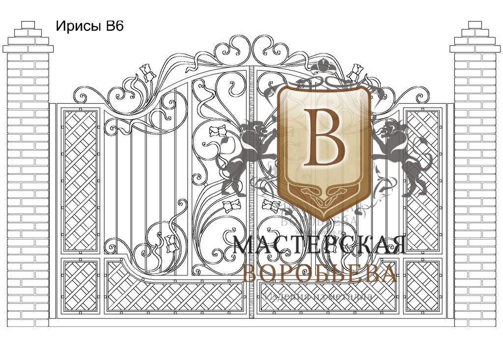 Ворота Ирисы В6, цена 129 870 руб., изготовление 30 дней