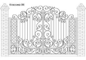 Ворота Классика В6, цена 89 910 руб., изготовление 20 дней