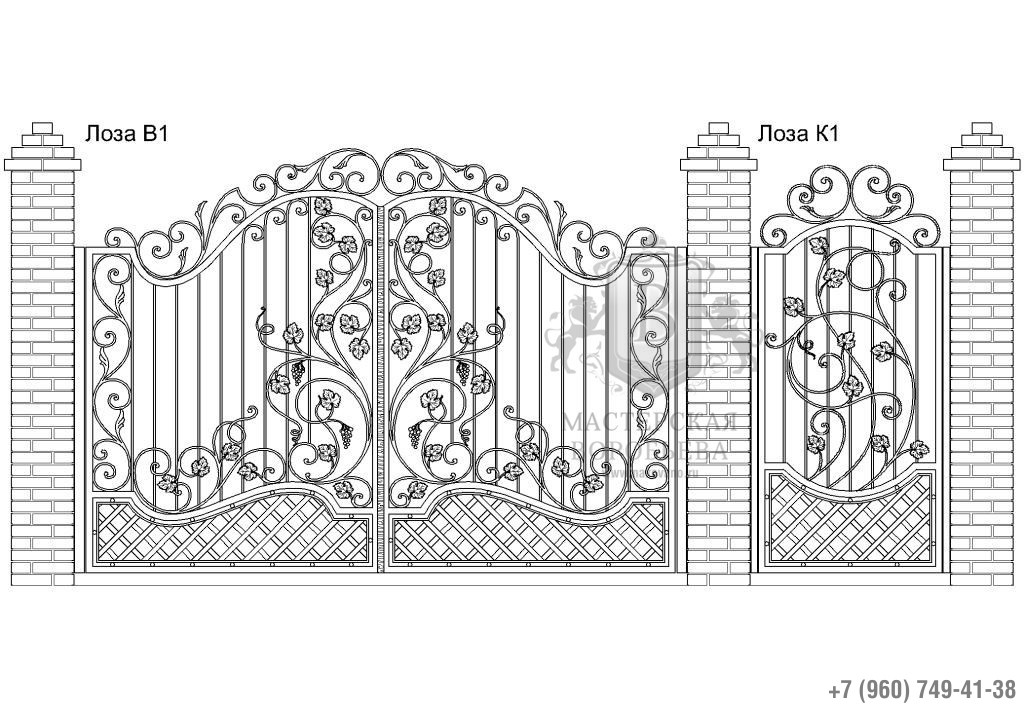 Ворота Лоза В1 + Калитка Лоза К1. Цена: 154 440 руб.