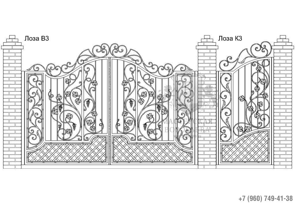 Ворота Лоза В3 + Калитка Лоза К3. Цена: 156 720 руб.