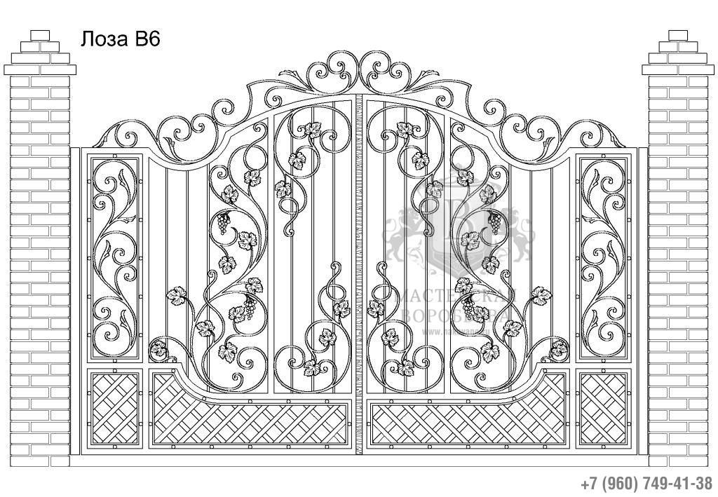 Ворота Лоза В6, цена 119 880 руб., изготовление 30 дней