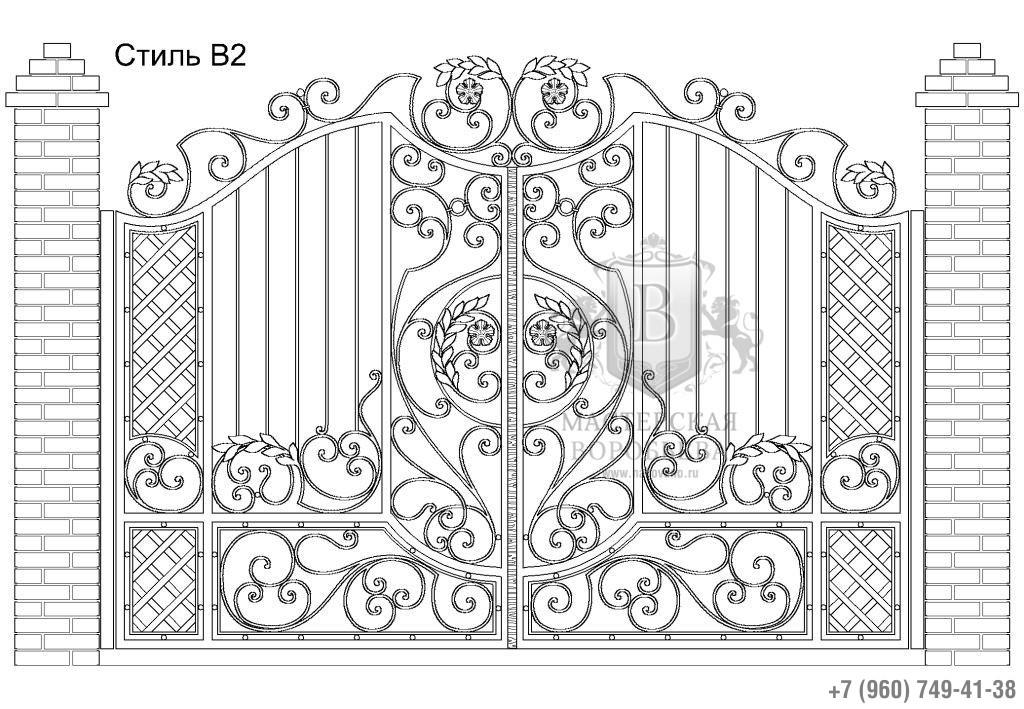Ворота Стиль В2, цена 101 800 руб., изготовление 20 дней