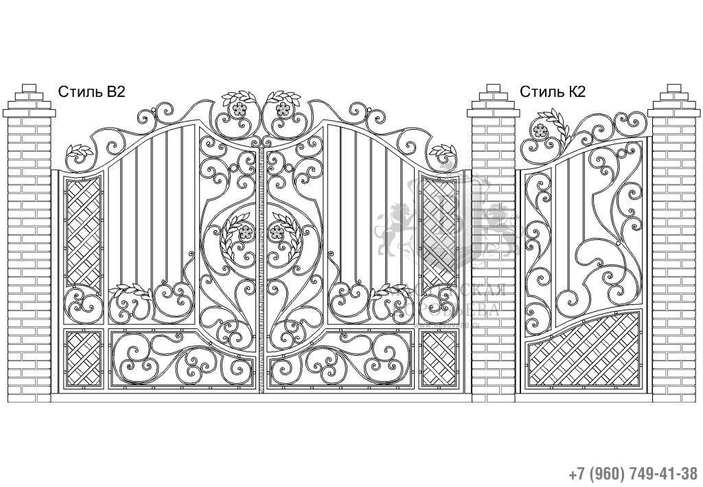 Ворота Стиль В2 + Калитка Стиль К2. Цена: 133 200 руб.