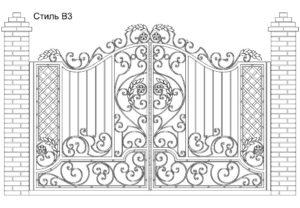 Ворота Стиль В3, цена 98 000 руб., изготовление 20 дней