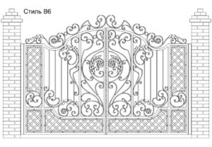 Ворота Стиль В6, цена 99 900 руб., изготовление 20 дней