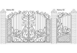 Ворота Ирисы В2 + Калитка Ирисы К2. Цена: 169 780 руб.