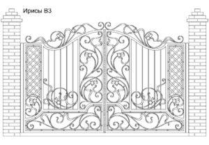 Ворота Ирисы В3, цена 120 120 руб., изготовление 30 дней