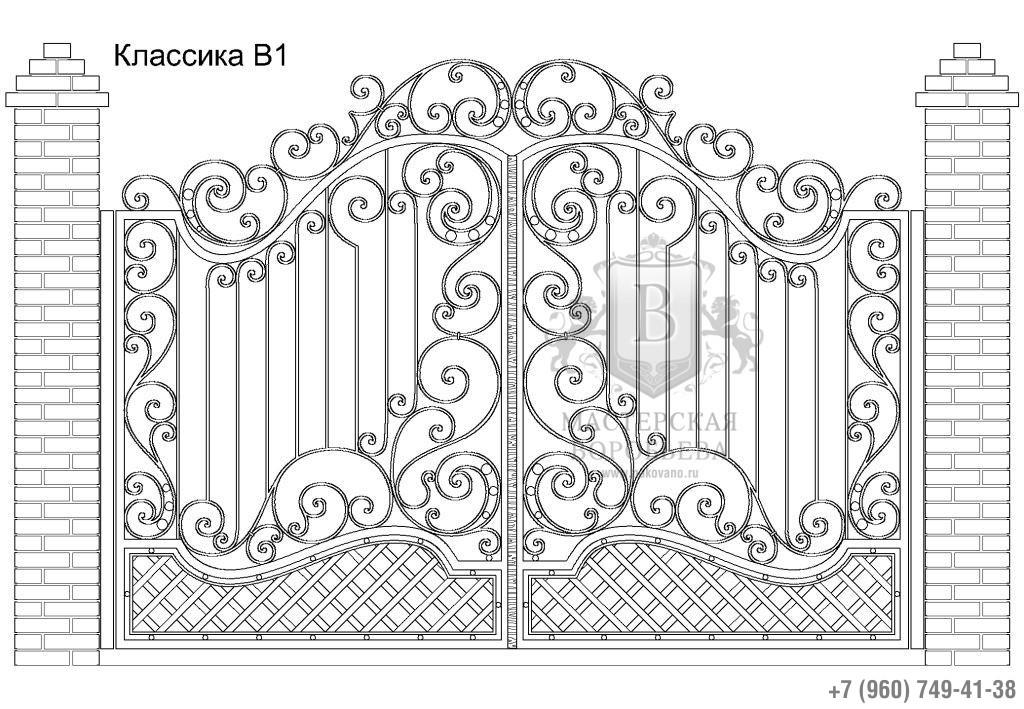 Ворота Классика В1, цена 91 620 руб., изготовление 20 дней