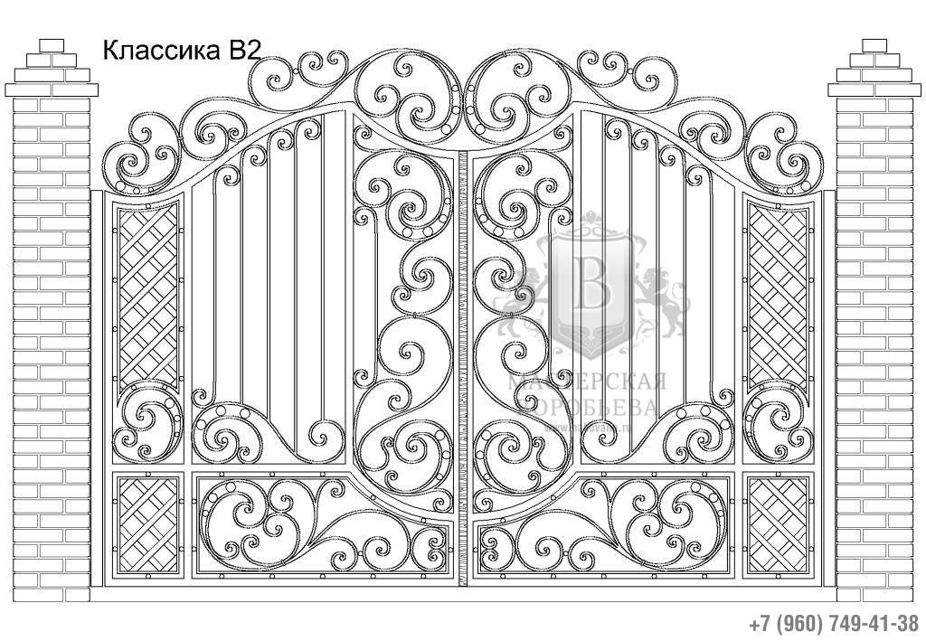 Ворота Классика В2, цена 91 620 руб., изготовление 20 дней