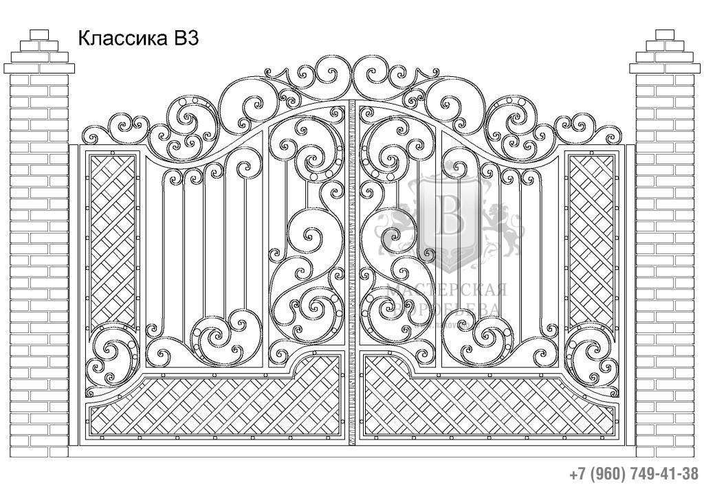 Ворота Классика В3, цена 88 200 руб., изготовление 20 дней