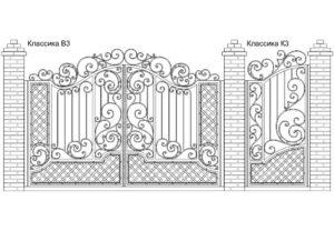 Ворота Классика В3 + Калитка Классика К3, цена: 117 000 руб.