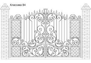 Ворота Классика В4, цена 84 870 руб., изготовление 20 дней