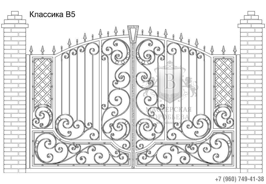 Ворота Классика В5, цена 84 870 руб., изготовление 20 дней