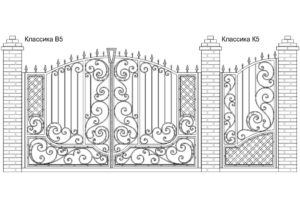 Ворота Классика В5 + Калитка Классика К5. Цена: 111 420 руб.