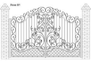 Ворота Лоза В1, цена 117 600 руб., изготовление 30 дней