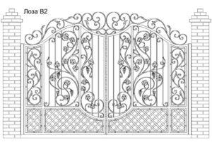 Ворота Лоза В2, цена 122 160 руб., изготовление 30 дней