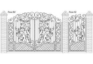 Ворота Лоза В2 + Калитка Лоза К2. Цена: 159 840 руб.