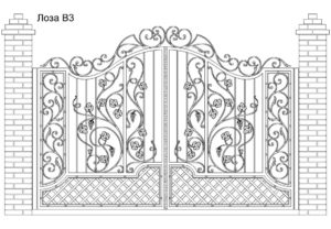 Ворота Лоза В3, цена 117 600 руб., изготовление 30 дней