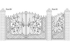 Ворота Лоза В5 + Калитка Лоза К5. Цена: 148 560 руб.