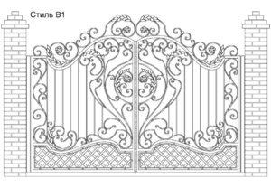 Ворота Стиль В1, цена 101 800 руб., изготовление 20 дней