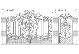 Ворота Стиль В1 + Калитка Стиль К1, цена: 132 500 руб.