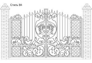 Ворота Стиль В4, цена 94 300 руб., изготовление 20 дней