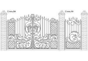 Ворота Стиль В4 + Калитка Стиль К4. Цена: 122 600 руб.