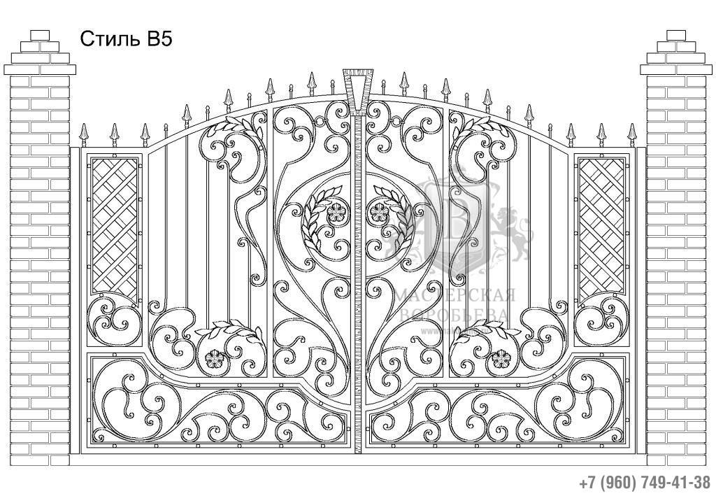 Ворота Стиль В5, цена 94 300 руб., изготовление 20 дней