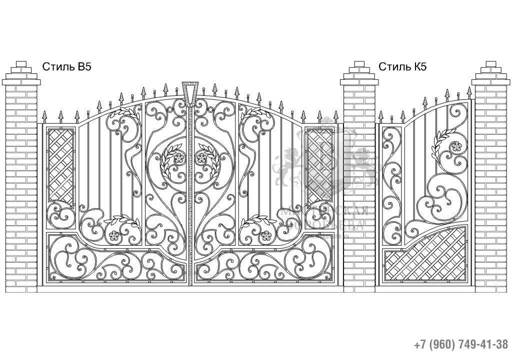 Ворота Стиль В5 + Калитка Стиль К5. Цена: 123 800 руб.